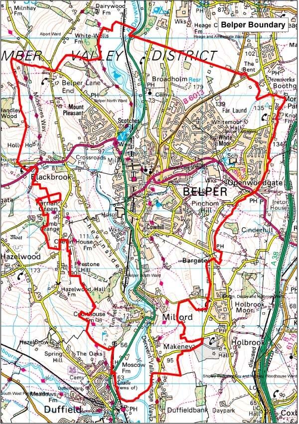 1Belper Boundary Map