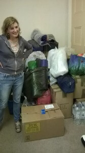 Suzie Rees filling our storage.