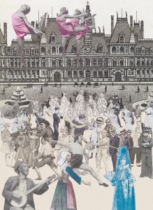 World Tour Paris, Dancing by Peter Blake (courtesy of CCA Galleries Ltd. Copyright restricted)