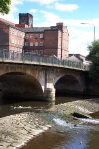 Belper mill bridge weir 2