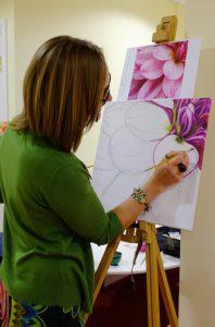 Artist Susan Bedford at Work