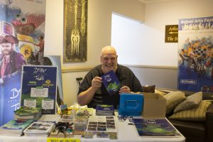George Gunby selling tickets for the Arts Trail