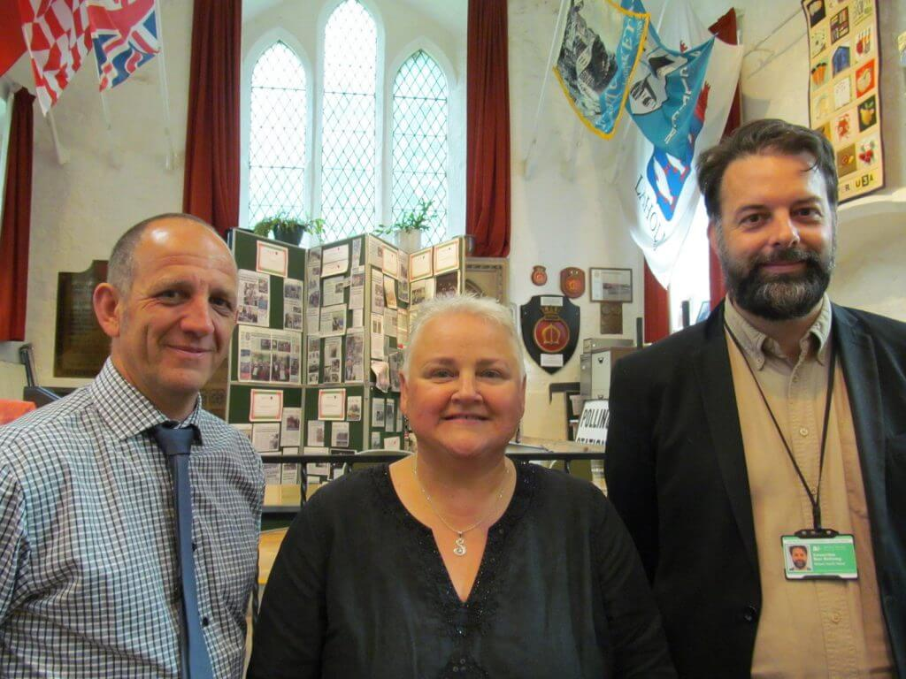 Belper United! Joe Booth, Sue MacFarlane and Ben Bellamy working together to oppose Bessalone plans