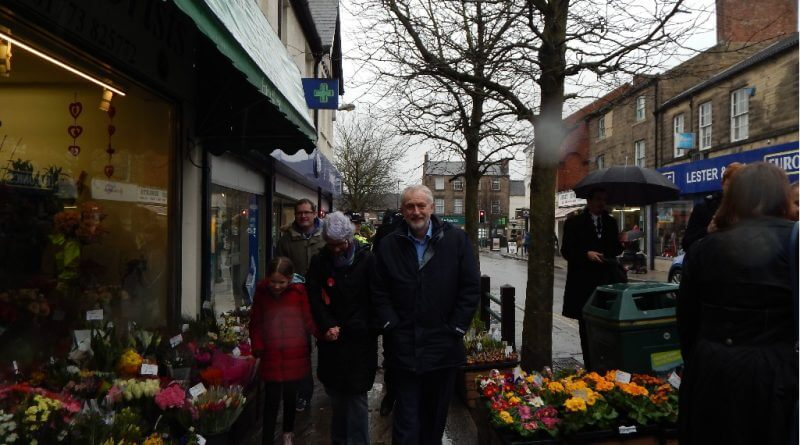 Jeremy Corbyn was in Belper Today