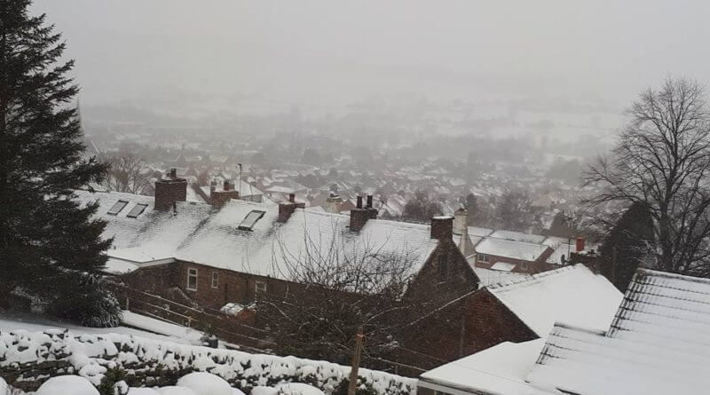 Belper in Snow by CL Washbrook