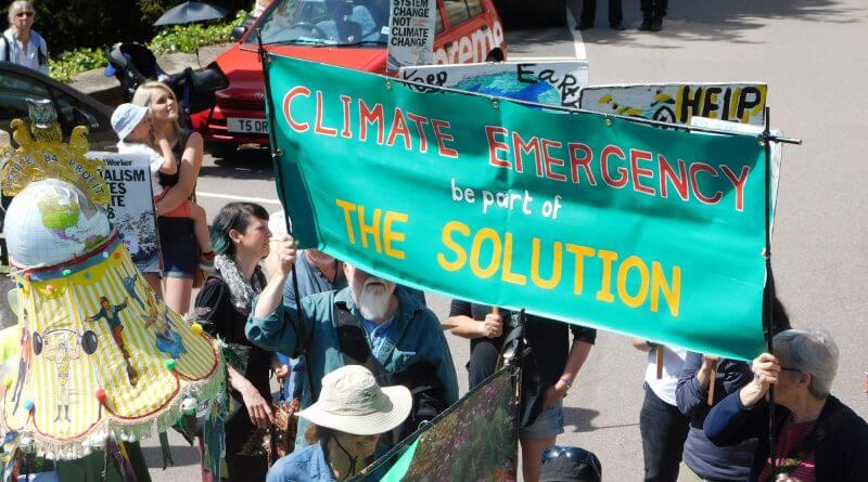 Protestors for Climate EMergency in Matlock
